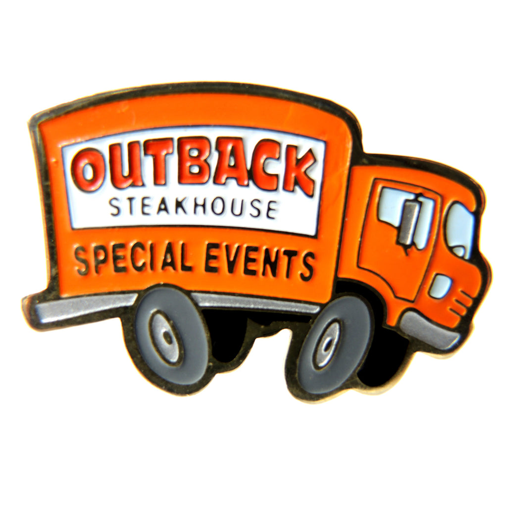 Outback Steakhouse Special Events Orange Box Truck Lapel Pin