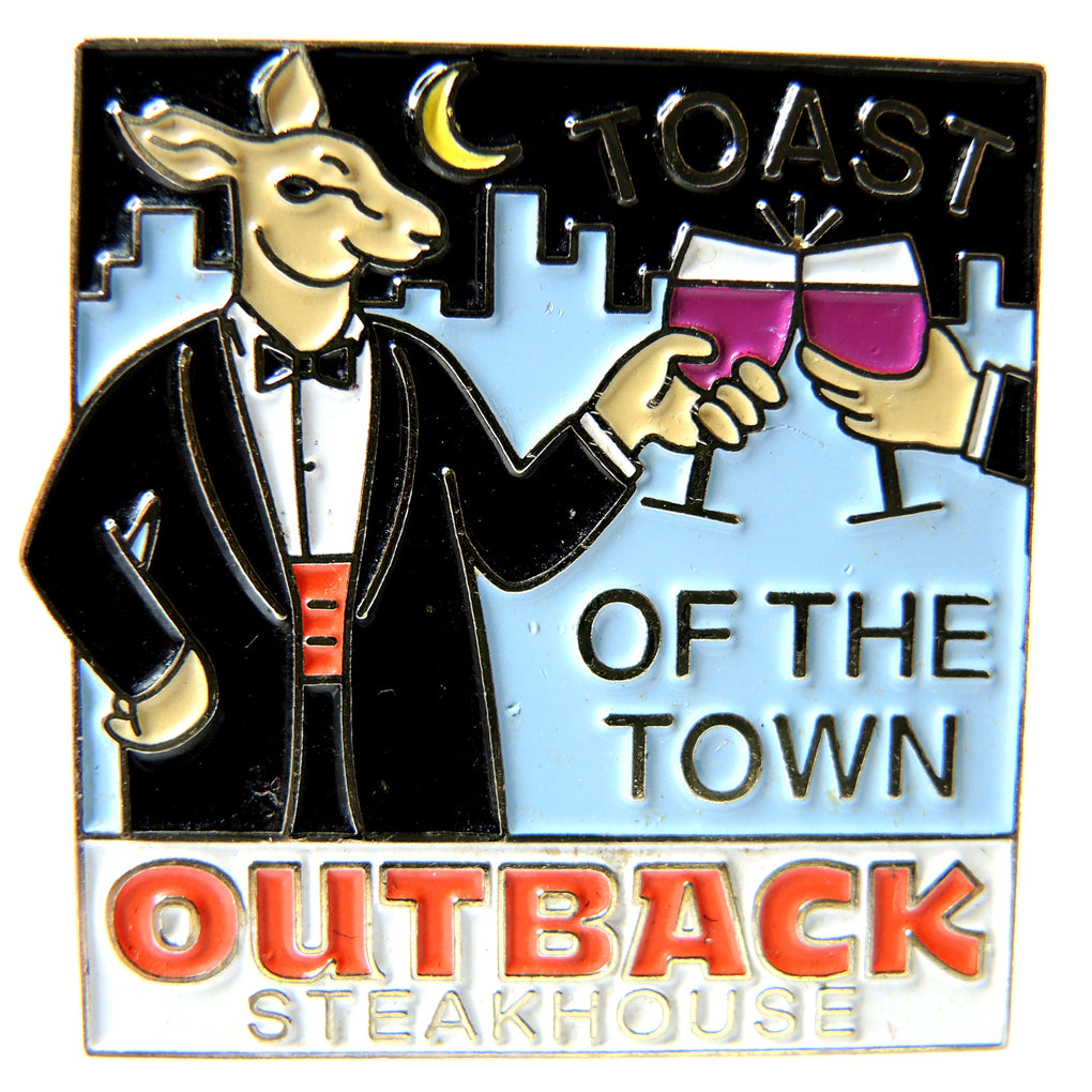 Outback Steakhouse Toast of the Town Lapel Pin