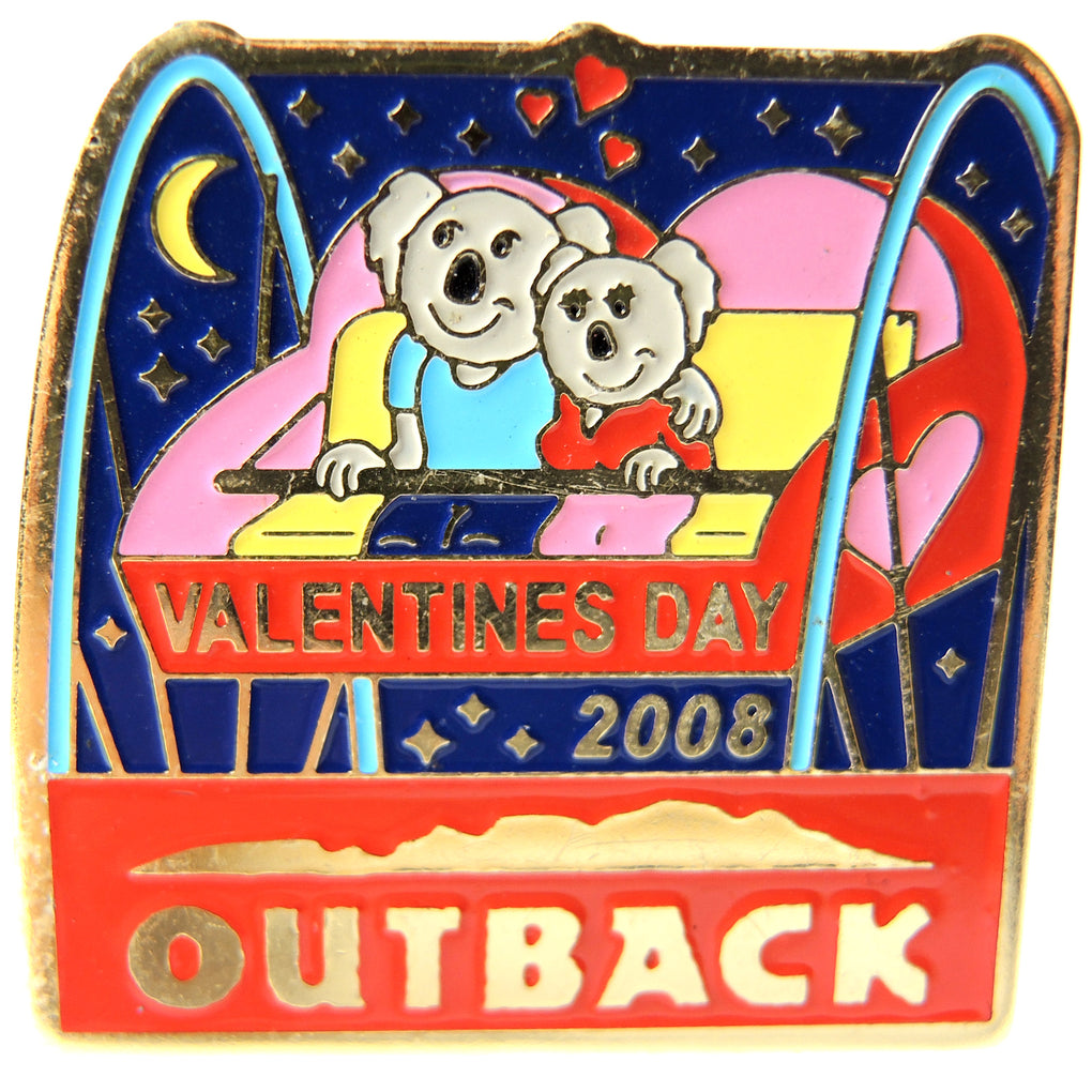 Outback Steakhouse Valentine's Day 2008 Lapel Pin