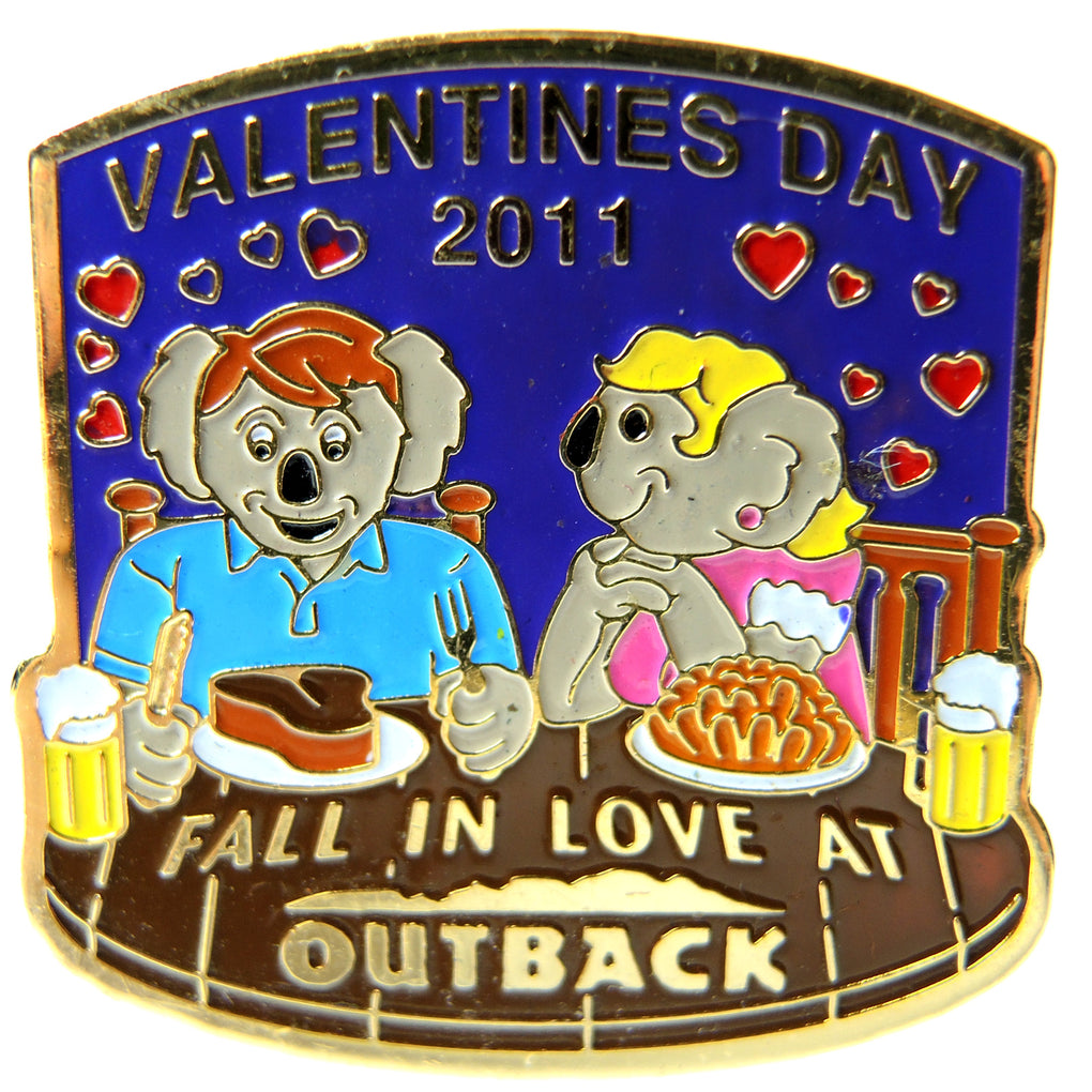 Outback Steakhouse Valentine's Day 2011 Lapel Pin