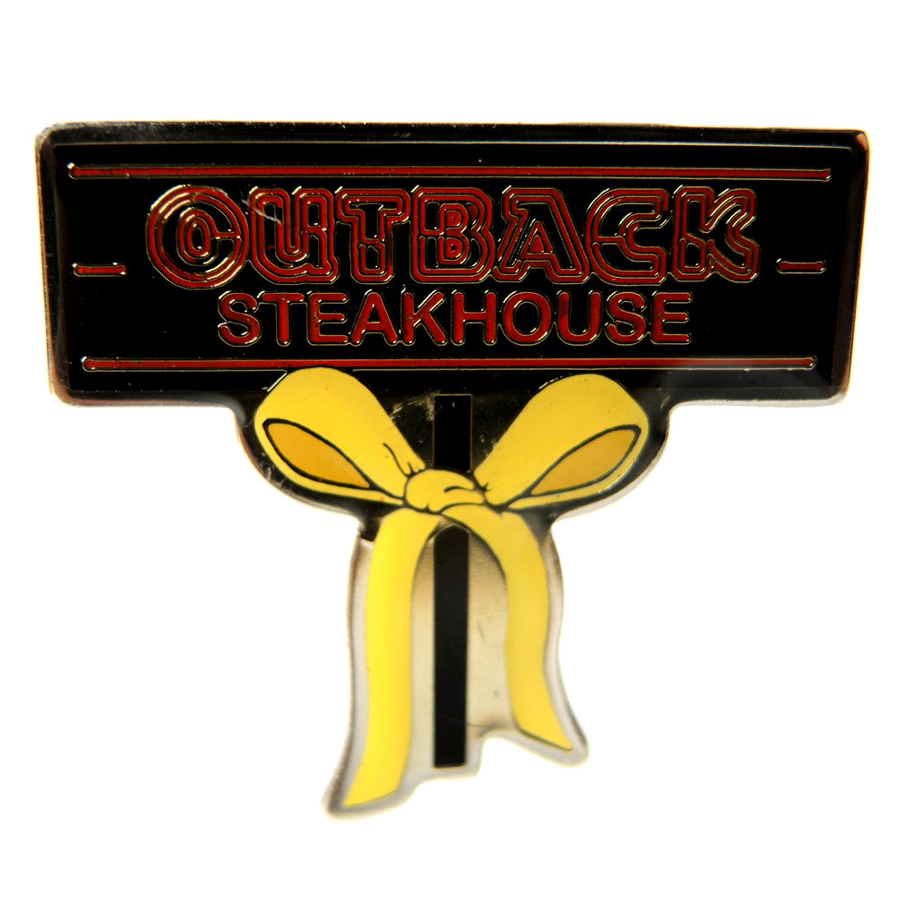 Outback Steakhouse Yellow Ribbon Lapel Support Pin