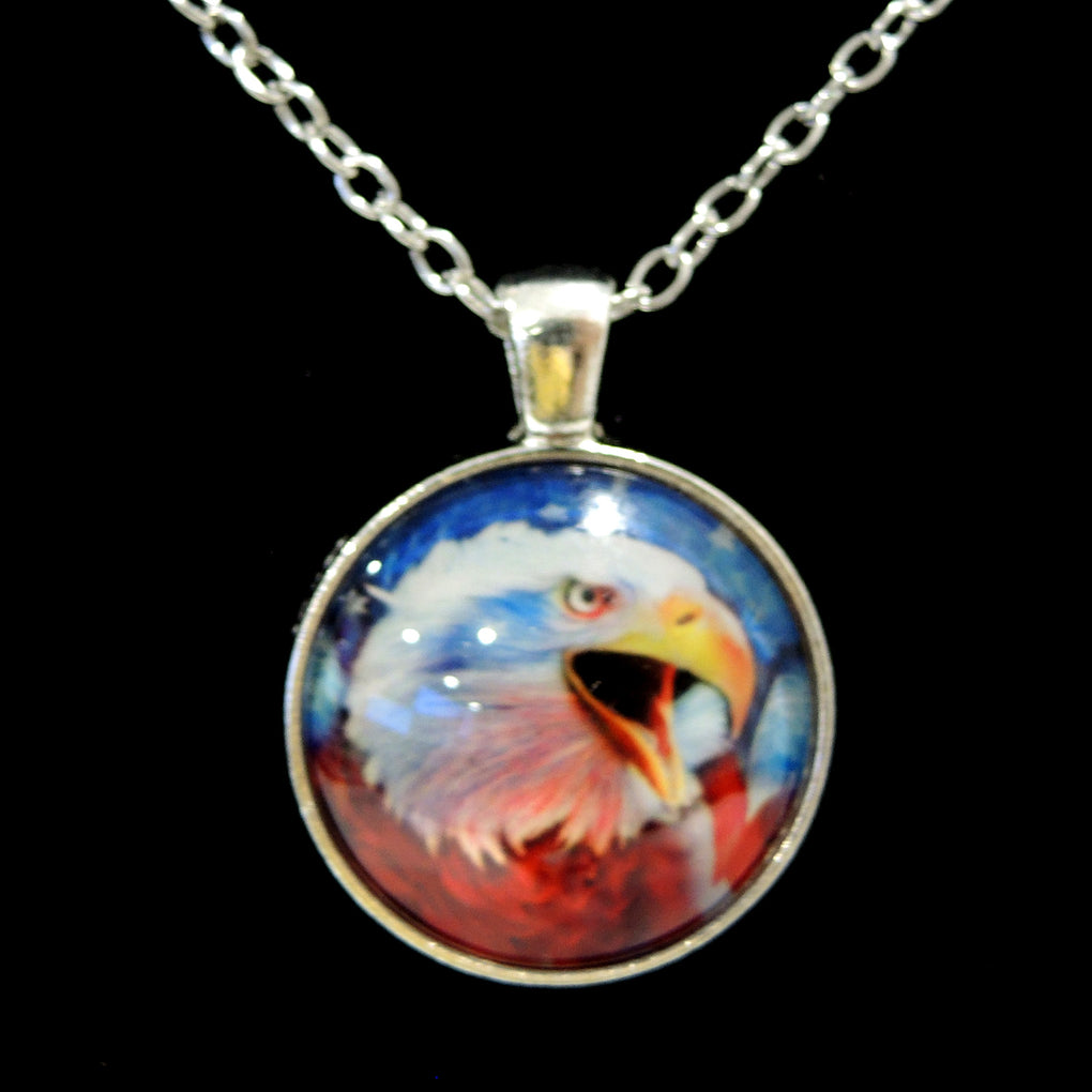 Patriotic Bald Eagle (Design 10) ~ Silver Tone 19