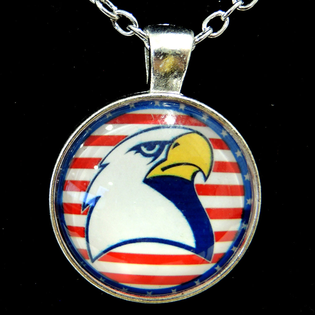 Patriotic Bald Eagle (Design 15) ~ Silver Tone 19