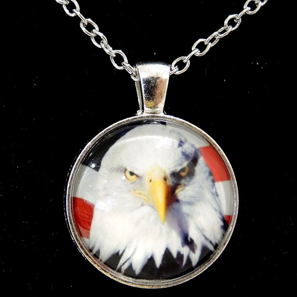 Patriotic Bald Eagle (Design 3) ~ Silver Tone 19