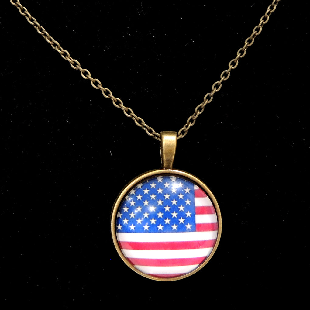 Patriotic USA Flag ~ Bronze Tone 19
