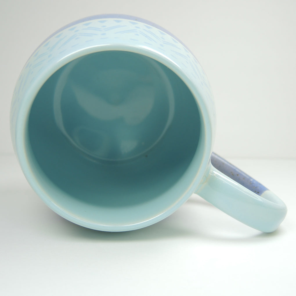 Pfaltzgraff Speckled Blue Large 16 oz Coffee Mug ~ Pint