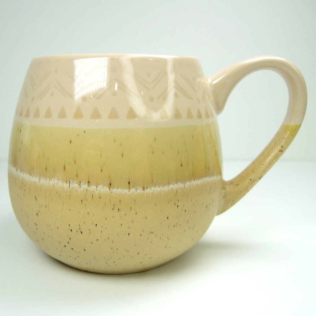 Pfaltzgraff Speckled Sand Colored Large 16 oz Coffee Mug ~ Pint - Fazoom