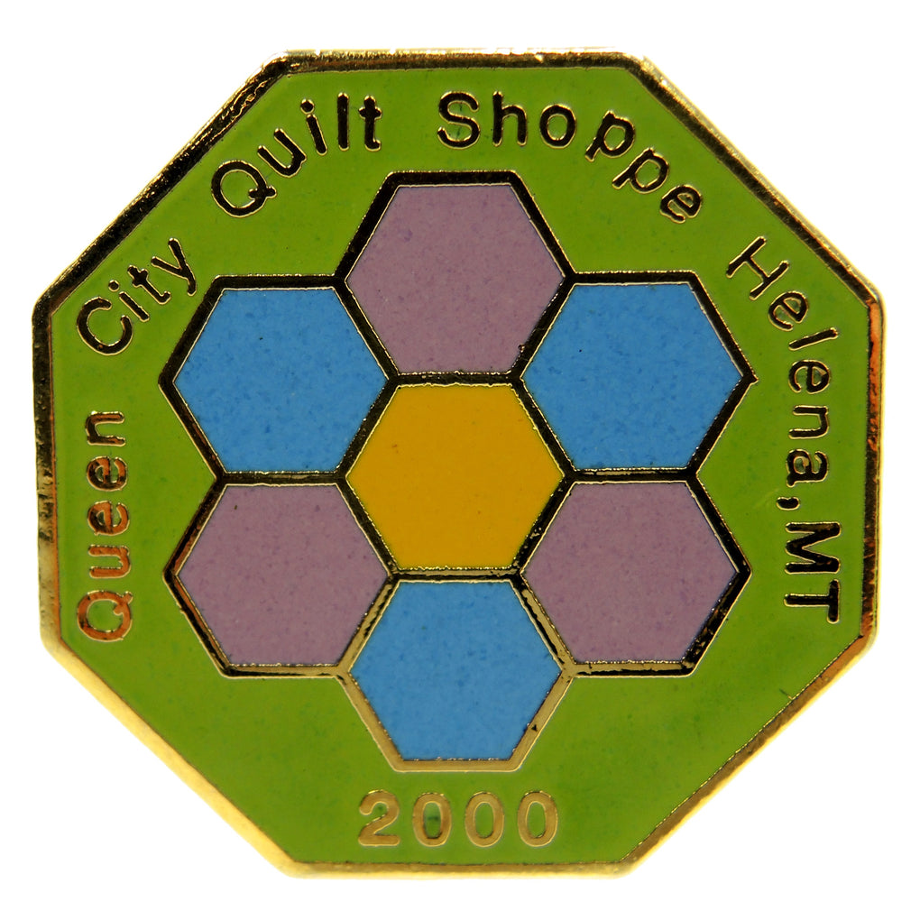 Queen City Quilt Shoppe Helena Montana 2000 Lapel Pin