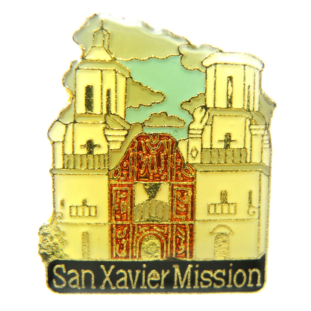 San Xavier Mission Arizona Lapel Pin - Fazoom