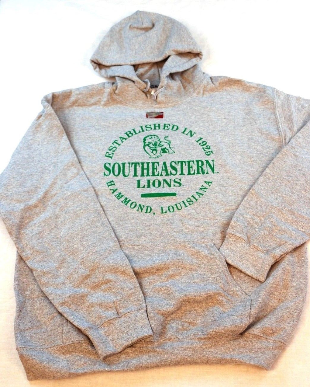 Southeastern Louisiana Lions Hooded Sweatshirt (Large, Gray) - Fazoom