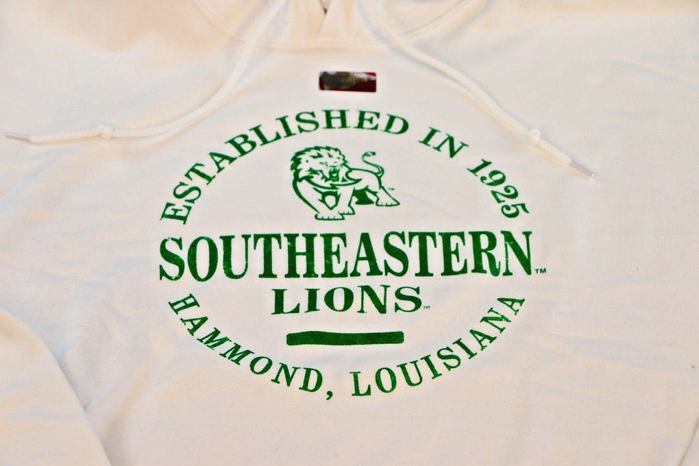 Southeastern Louisiana Lions Hooded Sweatshirt (3XL, White) - Fazoom