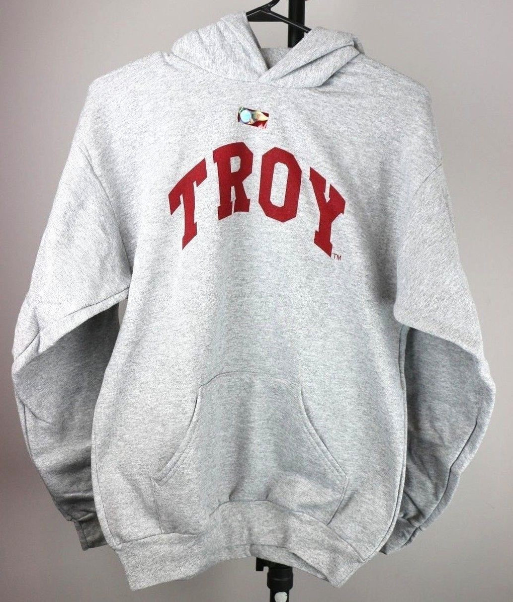 Troy State Trojans Youth Hooded Sweatshirt (Youth XL, Gray) - Fazoom