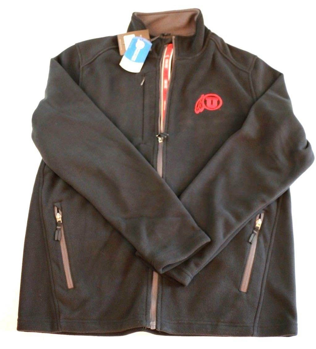 Utah Utes Alpine Team Text Jacket (Medium, Black) - Fazoom