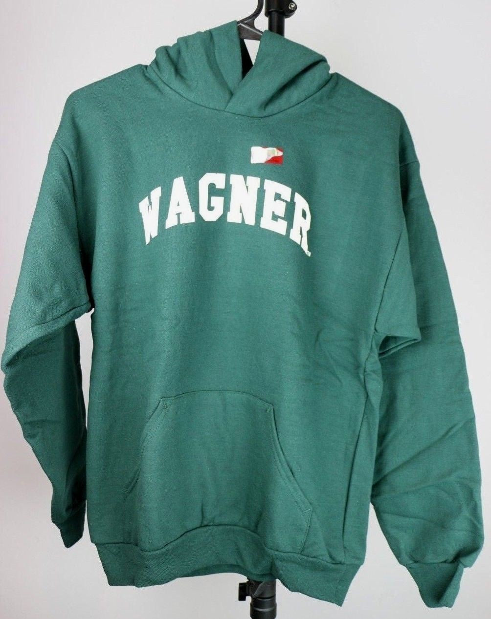 Wagner Seahawks Youth Hooded Sweatshirt (Youth XL, Dark Green) - Fazoom