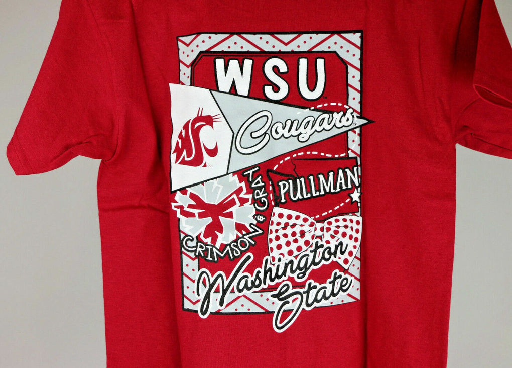 Washington State Cougars Youth Cheer Loud T-Shirt (Small, Red) - Fazoom
