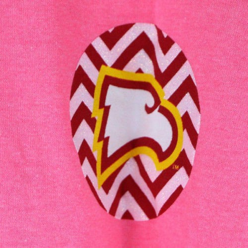 Winthrop Eagles Chevron T-Shirt (XL, Safety Pink) - Fazoom