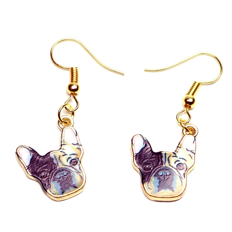 Dog Head Drop Earrings, Design 3 - Fazoom