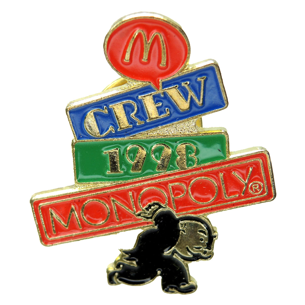 McDonald's Monopoly Rich Uncle Pennybags Crew 1998 Lapel Pin