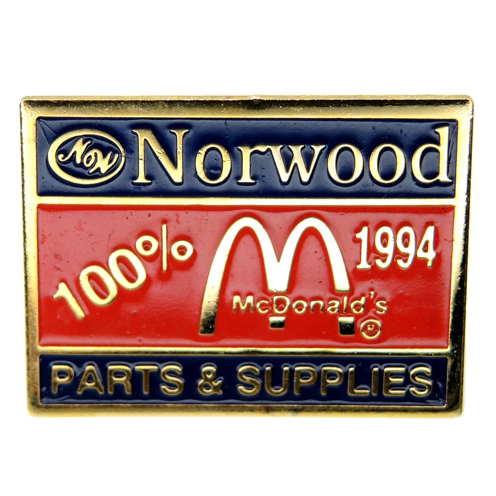 McDonald's Norwood Parts + Supplies 1994 Lapel Pin