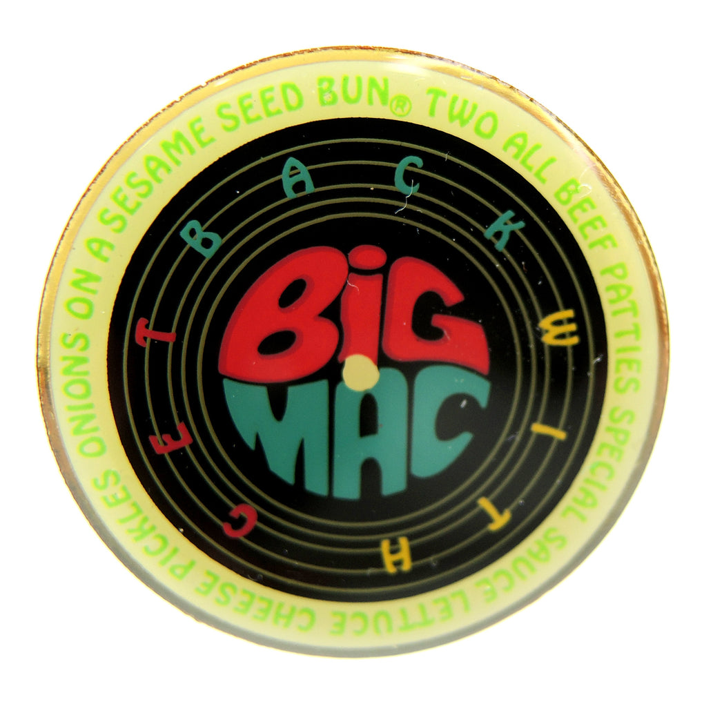 McDonald's Get Back with Big Mac Record Lapel Pin - Fazoom