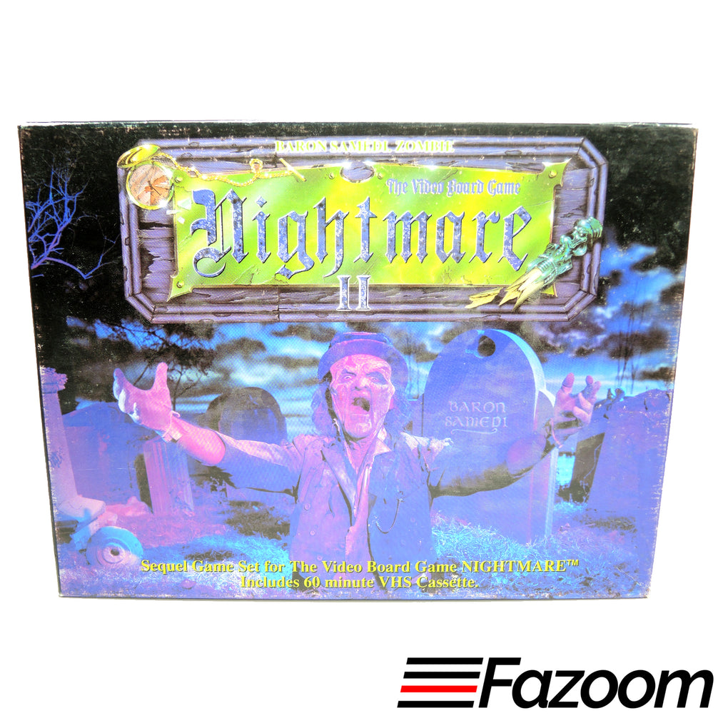 Nightmare II 2 VHS Video Board Game Sequel ~ Baron Samedi Zombie ~ Complete