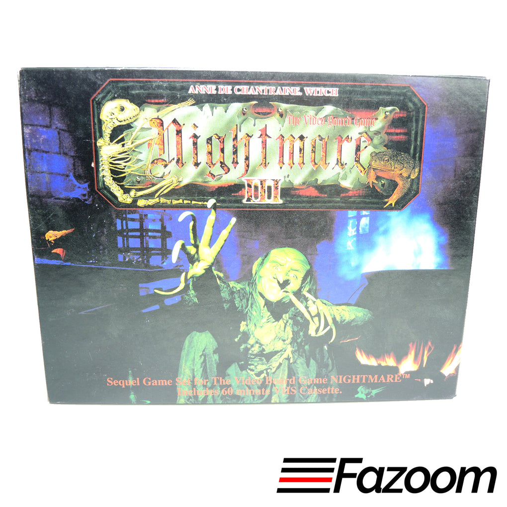 Nightmare III 3 VHS Video Board Game Sequel ~ Anne De Chantraine Witch