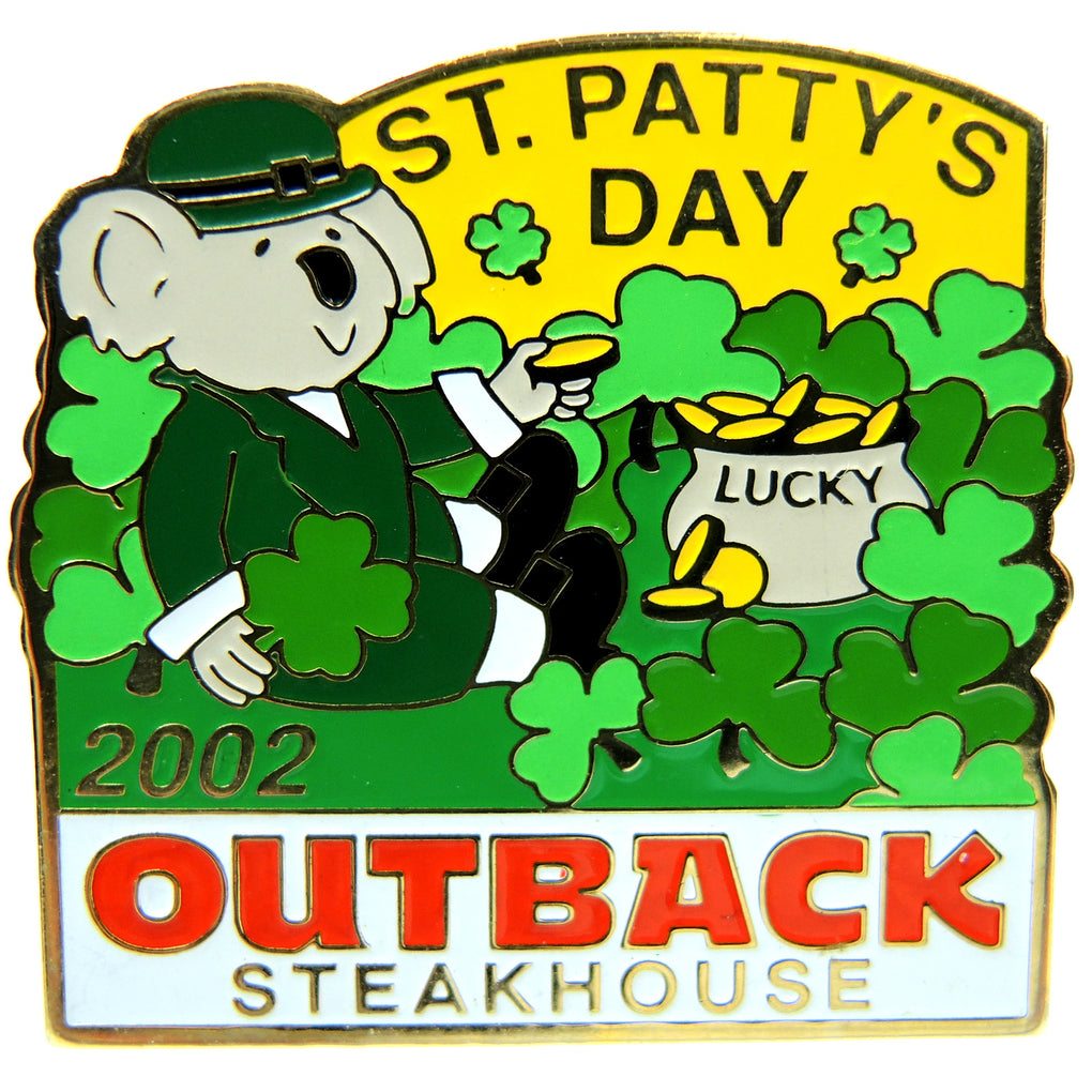 Outback Steakhouse St. Patty's 2002 Lapel Pin - Fazoom