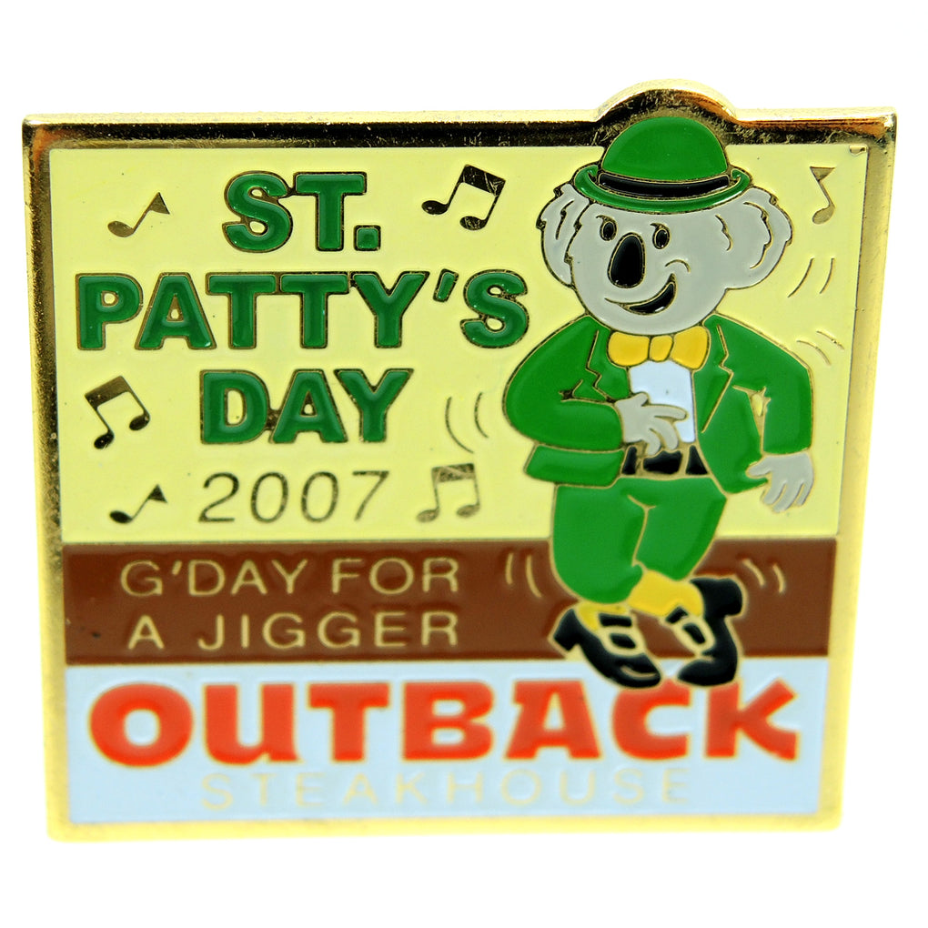 Outback Steakhouse St. Patty's 2007 Lapel Pin - Fazoom
