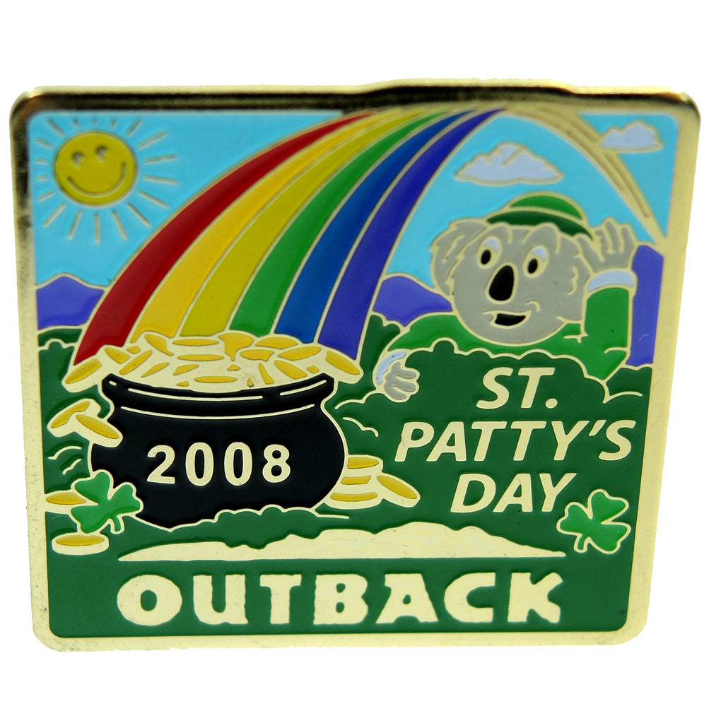 Outback Steakhouse St. Patty's 2008 Lapel Pin - Fazoom