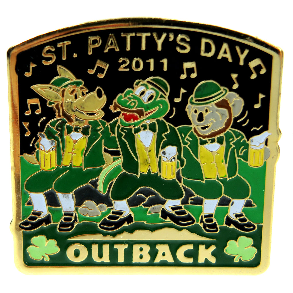 Outback Steakhouse St. Patty's 2011 Lapel Pin - Fazoom