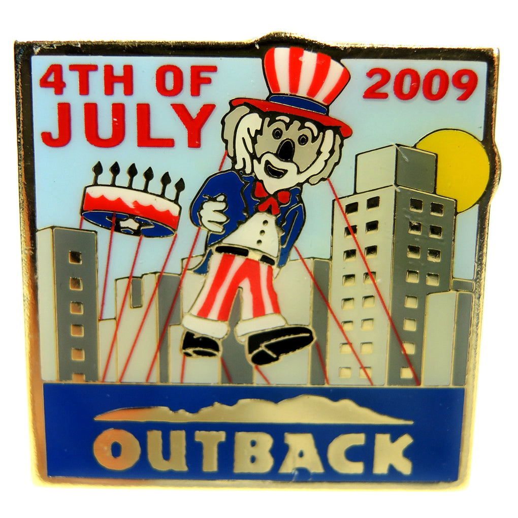 Outback Steakhouse Fourth of July 2009 Lapel Pin - Fazoom