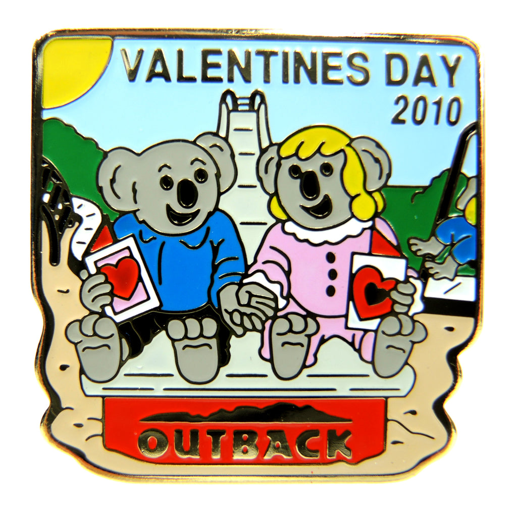 Outback Steakhouse Valentine's Day 2010 Lapel Pin - Fazoom