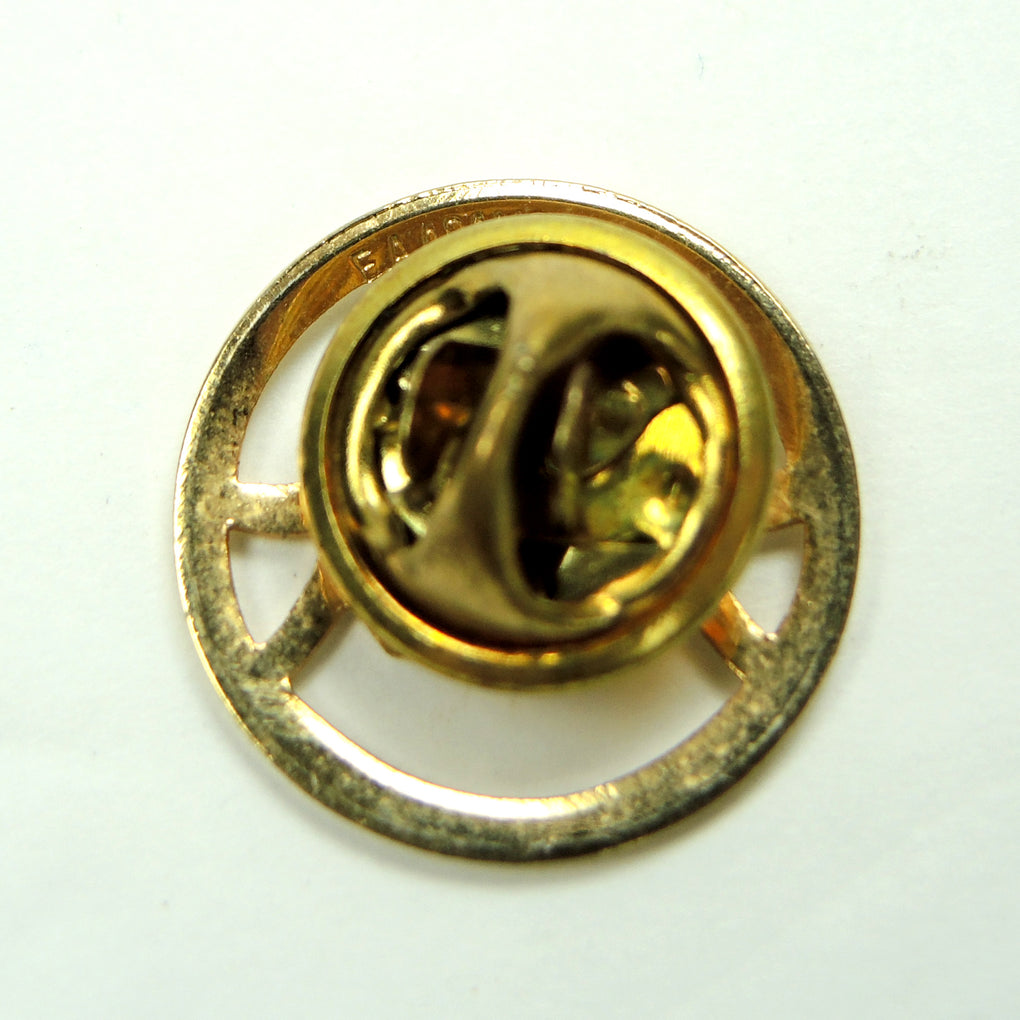 E.A. Adams Three People Holding Hands Gold Tone Metal Lapel Pin - Fazoom