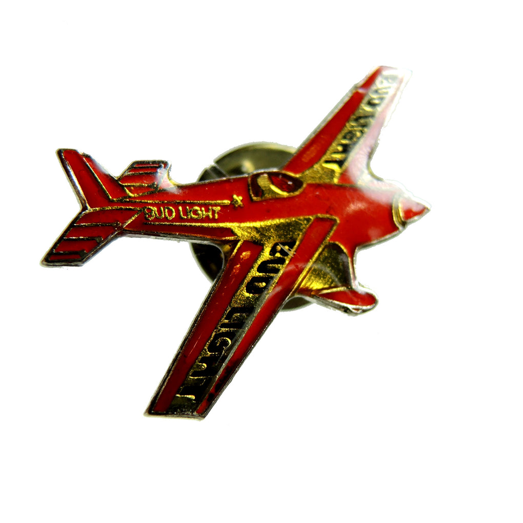 Bud Light Beer Prop Plane Lapel Pin - Fazoom