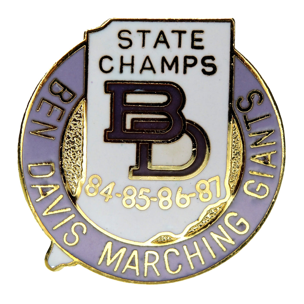 Ben Davis High School Marching Giants Indiana State Champs 1984-87 Lapel Pin