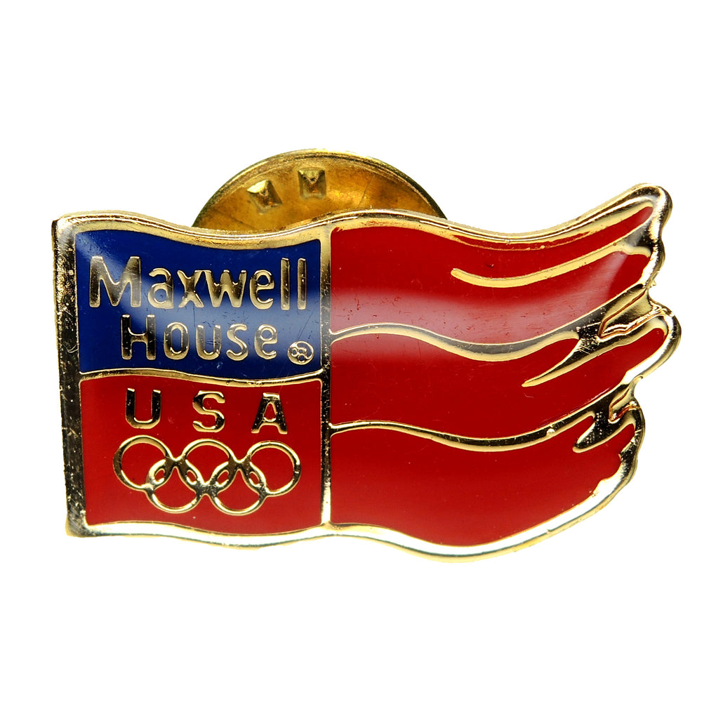 Olympic Games Maxwell House Coffee USA Sponsor Lapel Pin