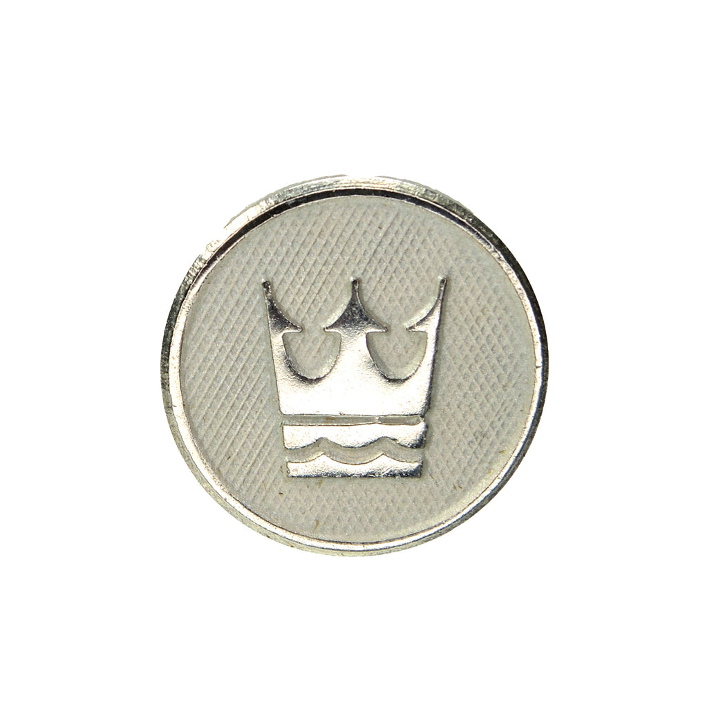 Royal Cruise Lines Small Round Silver-Tone Lapel Pin