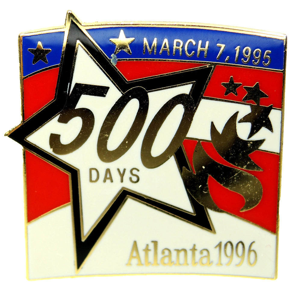Atlanta 1996 Summer Olympic Games 500 Days Countdown Lapel Pin 55373