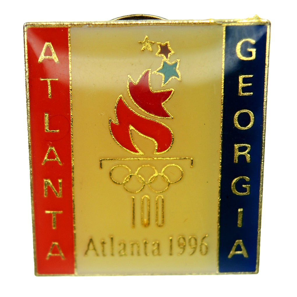 Atlanta 1996 Summer Olympic Games Atlanta Georgia Patriotic Torch Lapel Pin