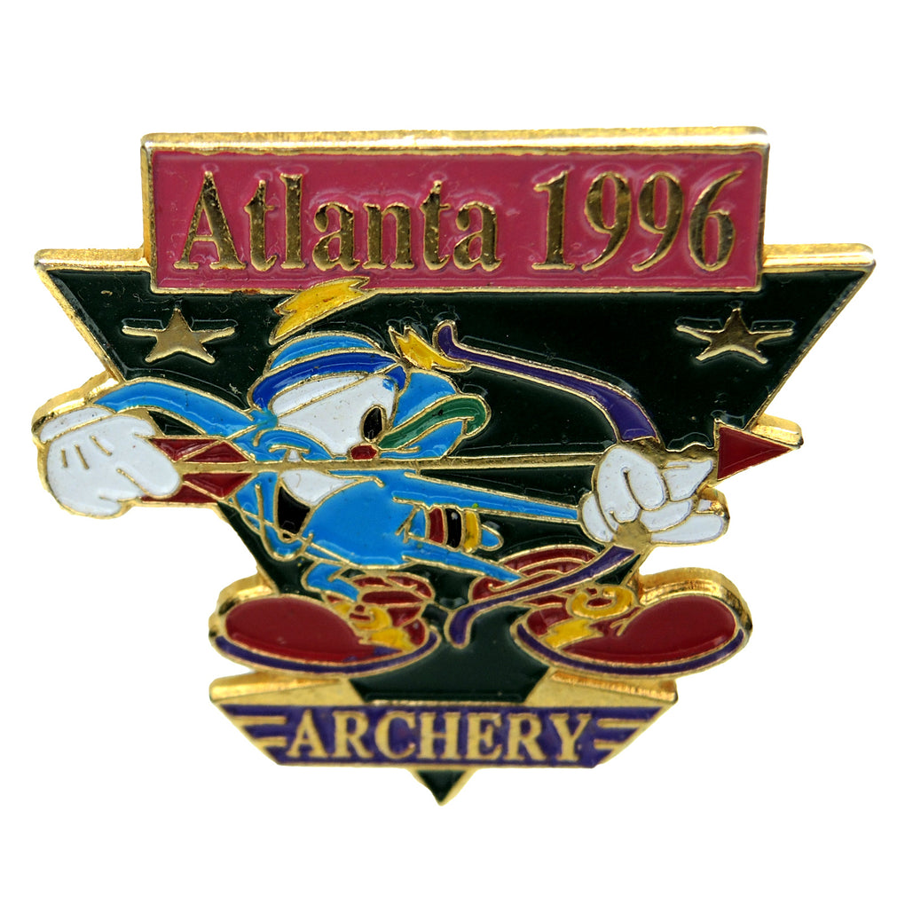 Atlanta 1996 Summer Olympic Games Izzy Mascot Archery Lapel Pin 416114