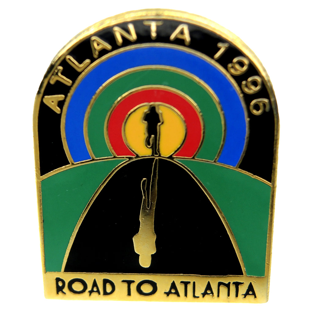 Atlanta 1996 Summer Olympic Games Running Road to Atlanta Lapel Pin 511215