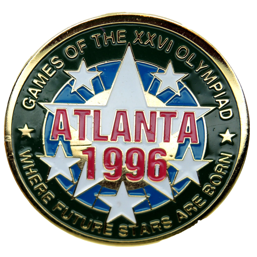 Atlanta 1996 Summer Olympic Games Where Future Stars Are Born Lapel Pin 517575