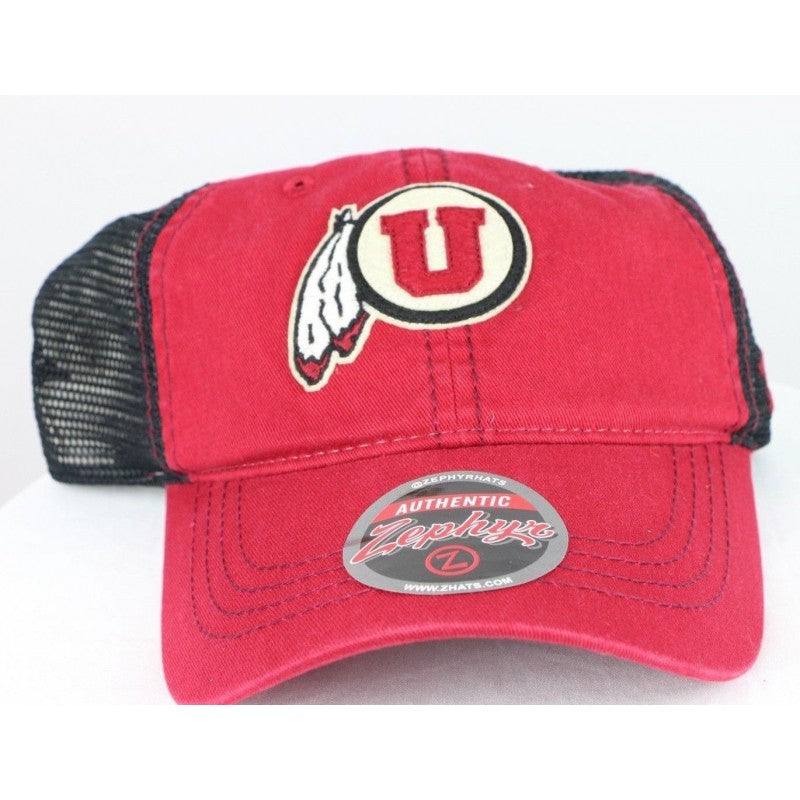 Utah Utes NCAA Adult Springtime Relaxed Hat, Red, Adjustable, One Size - fazoom