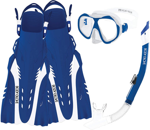 SNORKEL ENLIGTHEN II S/M BLUE-WHITE - 16029SET