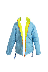 PUFFER JACKET – BLUE NEON – 1 OF 1
