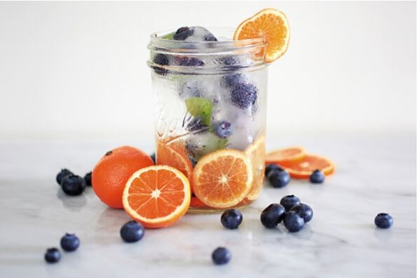 Citrus and Blueberry Infused Detox water
