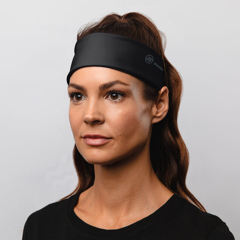 "Black 2.25"" Reversible Headband"