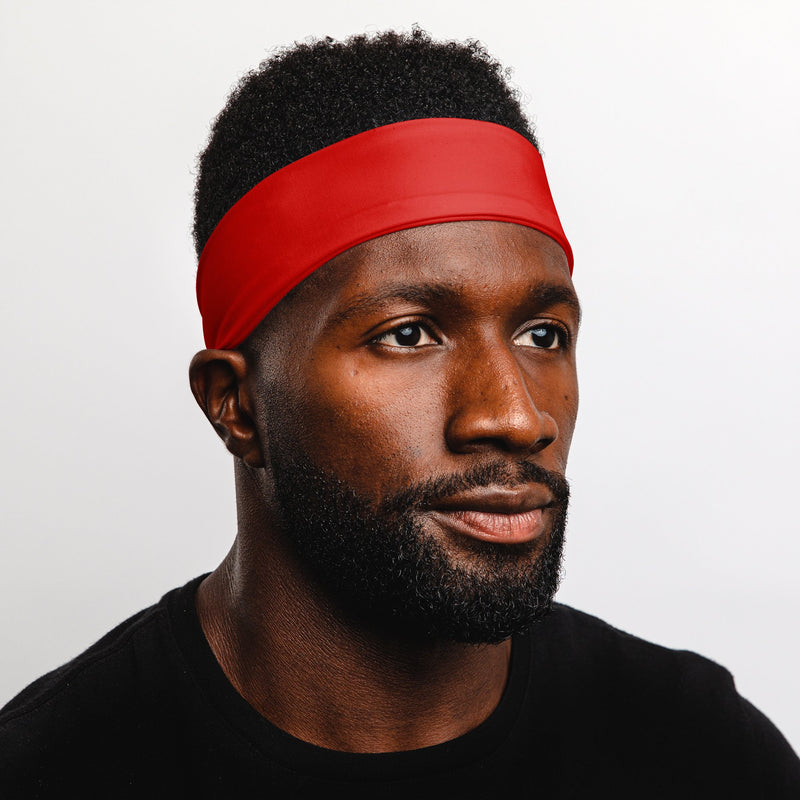 "Red 2.25"" Reversible Headband"