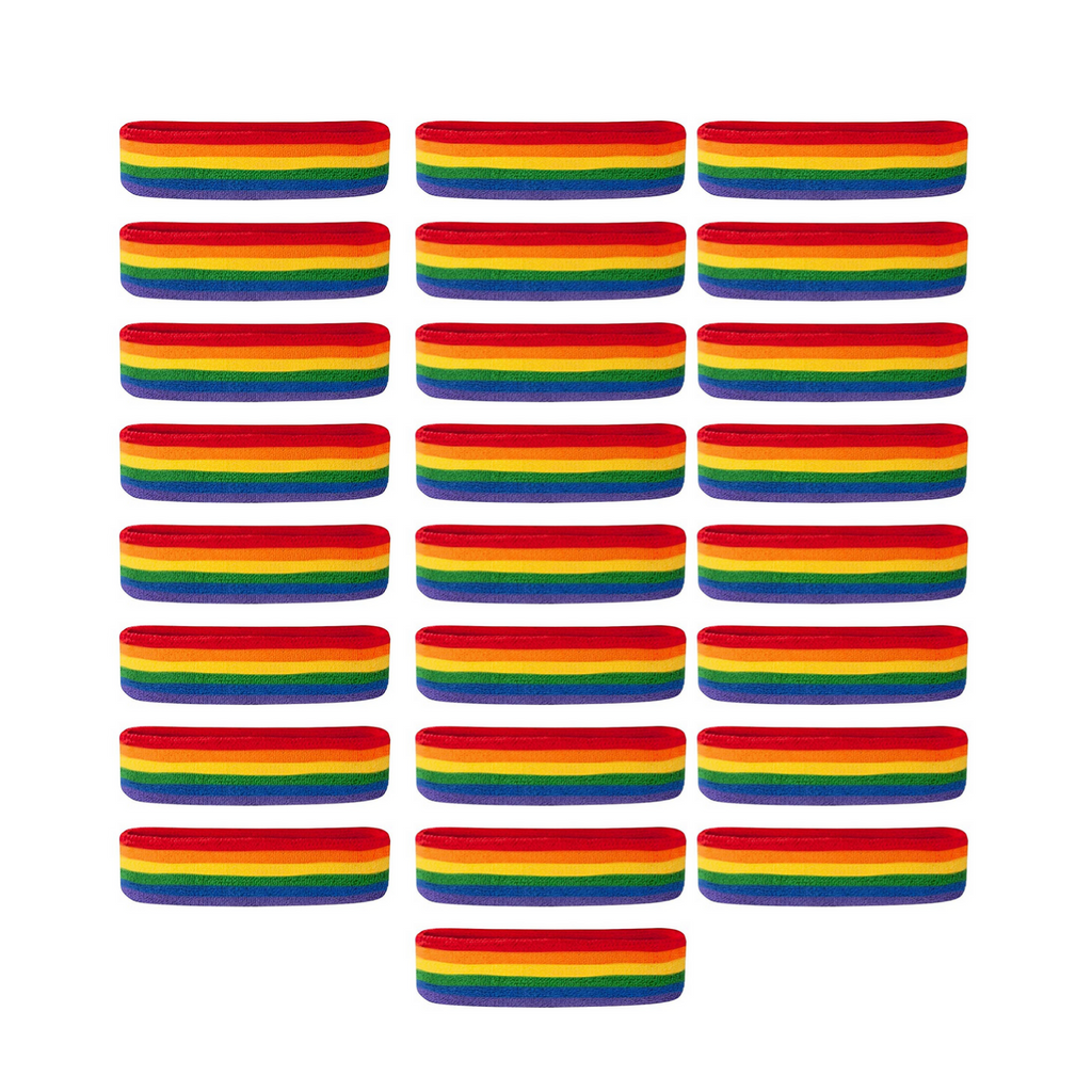 - [25-Pack] Bulk Suddora Rainbow Headbands