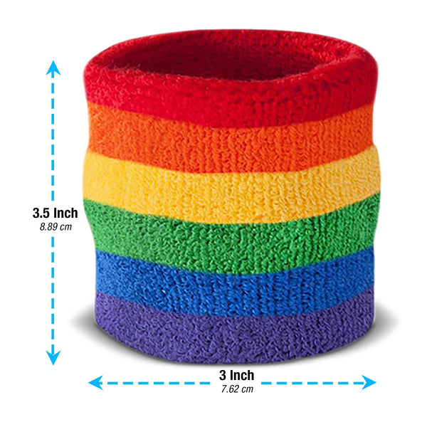 Bulk Rainbow Sweatband Sets (10 Pack)